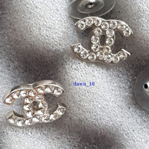 4bf09fa75 CHANEL Jewelry | Classic Swarovski Crystal Cc Stud Earrings | Poshmark